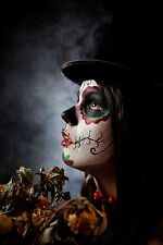 BEAUTIFUL MEXICAN SUGAR SKULL CANVAS PICTURE #28 STUNNING GOTHIC MAKE UP CANVAS