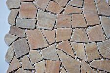 Sample of Teak Marble Flat Pebble / Stone Mosaic Floor Tile or Wall Tile