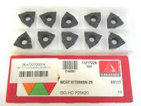 10 Plaquettes pour Perceuse Wcgt 07T308 SN-29 SR127 P25K20 Ceratizit Neuf H23408