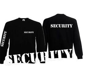 Security Sweatshirt , Sweatshirt Security, SECURITY PULLOVER 3x bedruckt Stencil