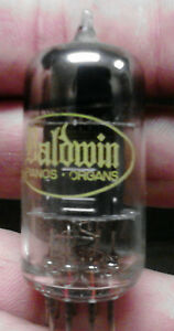 Baldwin 12au7 (12ax7) vacuum tubes, vintage USA (1958) Tested strong, can match