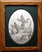 Wood Ducks/Duck Decoy Den Art/Pencil Print Reproduction/Wildlife Art/Remington