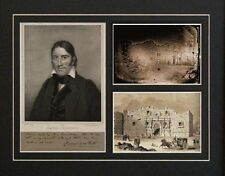 Davey Crockett Autographed Photograph and Alamo images from Mexican War Repros
