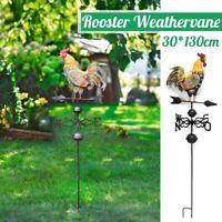 30x130cm Metal Weather Vane Vintage Rooster Garden Weathervane Vintage Decor