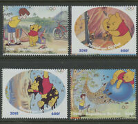 Winnie the Pooh Christopher Robin Honey Bees Balloon mnh 4 stamps 2010 Mali