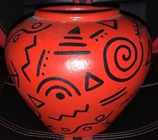 1980s Tribal Flower Vase with Black 80s Tribal Markings