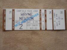 WAYNE NEWTON V.I.P. CHAIR 1989 CANFIELD FAIR USED CONCERT TICKET