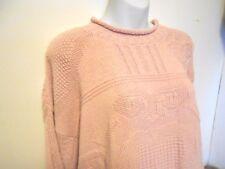 Vintage Sweet Briar M Women's Sweater Pink Heart Design Cotton USA Made