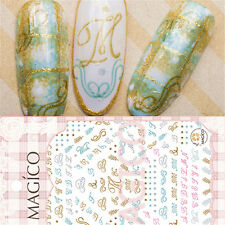 1 Pc 3D Nail Art Sticker Artistic Letters Design Manicure Decal Decoration Tips