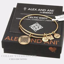 Authentic Alex and Ani Celtic Knot Rafaelian Gold Charm Bangle CBD