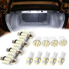 13PCS White LED Light Interior & Dome & License Plate Lamp Bulbs Kit For Car ny
