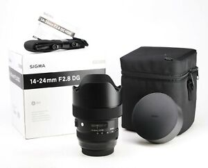 Sigma DG 14-24mm F2.8 HSM ART Lens Zoom Lens with Caps. Canon Fit.  Mint & Boxed