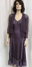 Authentic Komarov Size Medium Lace Trim Charmeuse Dress & Jacket NWT $418