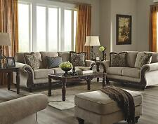 Ashley Laytonsville Living Room Set 3pcs in Pebble Upholstery Fabric Traditional