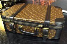 """LOUIS VUITTON 22"""" Rare Custom Black Carry On Suitcase Duffle Mens Pilot Case Bag"""