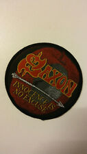 Saxon Innocence is no excuse RARE patch Sew On patch music aufnaher metal