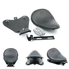 Black Diamond Solo Seat + Bracket Base For Motorcycle Cruiser Chopper Bobber AU