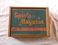 Spielemagazin - Alter Großer Holzkasten 60er Jahre - Alte Brettspiele uvm.