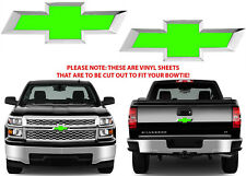 Lime Green Vinyl Bowtie Decals For 2014-2018 Chevrolet Silverado New Free Ship