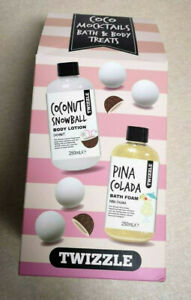 TWIZZLE Coco Mocktails Coconut Body Lotion Bath Foam 250 ml Bath Fizzer NEW-D807