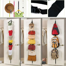 Over the Door Adjustable Hanger Hat Bag handbag Clothes Rack Holder Organizer US