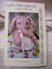 "12"" Priscilla Elephant  PATTERN   Mohair Soft Animal"