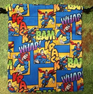DC Superman dice bag, card bag, makeup bag, small gift bag