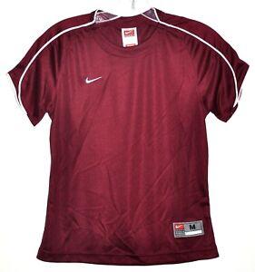 Nike Dri-Fit Team Wear Jersey Shirt Crimson Red Short Sleeve Youth Sz L 14 NWOT