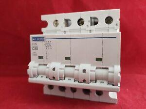 PROTEUS LVN-80C-3 80A C TYPE C80 TRIPLE POLE TP 3P MCB FUSE SWITCH NEW