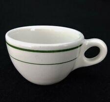 Vintage Buffalo China Restaurant Ware Green Stripe Coffee Cup