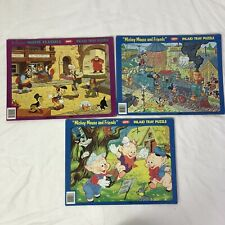 Vintage Jaymar Frame Tray Disney puzzle Lot Pinocchio 3 Pigs Mickey and Friends