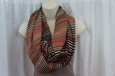 Calvin Klein Scarf Sz OS One Size Rouge White Multi Casual Infinity Loop Scarf