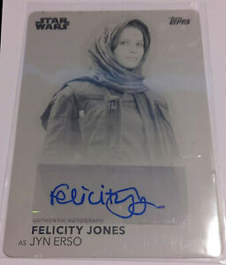 Star Wars Felicity Jones Printing Plate black Women of Star Wars auto autograph
