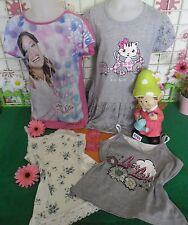 vêtements occasion fille 10 ans,tunique,t-shirt DISNEY VIOLETTA,top bretelles