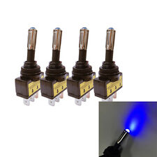 4Pcs 12V 20A Car Auto Blue LED Light Toggle Rocker Switch 3Pin SPST ON/OFF