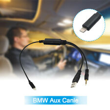 Lightning Y Cable For BMW MINI USB AUX-In Interface Audio Adapter iPhone 7/8/X
