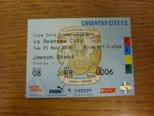 25/11/2008 Ticket: Coventry City v Swansea City  . Thanks for viewing this item
