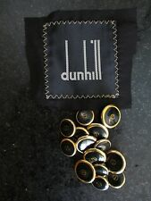 DUNHILL black gold enamel metal logo double breasted DB blazer button set 10