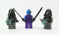 LEGO Marvel Super Heroes Nebula and Sakaaran Lot of 3 Minifigures w/ Weapons