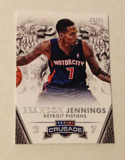 2013/14 Crusade BRANDON JENNINGS Silver SP #23/25 Made Pistons Base #89 Panini