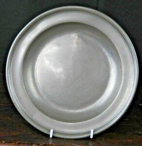 "Scottish 9"" Deep-Bowled Pewter Plate by William Hunter of Edinburgh, c1750"