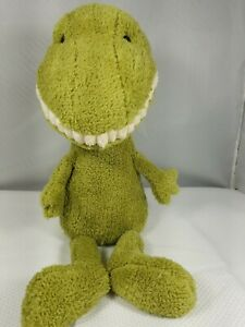 "Jellycat Toothy T-Rex Dino Green Dinosaur 16"" Plush Stuffed Animal Soft Toy"