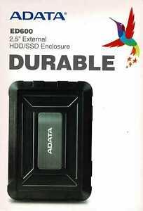 "ADATA ED600 Durable 2.5"" Externes USB 3.1 Gehäuse für SSD / HDD"