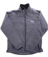 Patagonia Regulator R1 Windbreaker Jacket Womans Size M Softshell Gray Full Zip