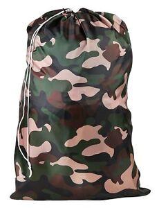 Heavy Duty EXTRA LARGE Nylon Laundry Bag CAMOUFLAGE 30 X 40 Locking Drawstring.
