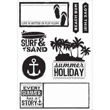 KaiserCraft Clear Stamps Sandy Toes Collection - Beach Ocean Nini's Things