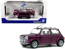 Solido 1:18 Mini Cooper 1.3i Sport Pack & Checkered Top Diecast Purple S1800606