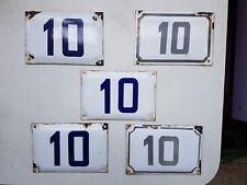 vintage ISRAELI enamel porcelain number 10 house sign # 10 PICK 1 FROM LOT