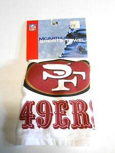 16x25 San Francisco SF 49ers McArthur Sports Utility Towel NFL Football w/ Hook