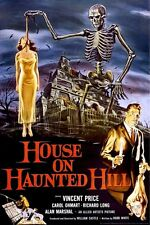 HOUSE ON HAUNTED HILL ~ SKELETON 24x36 MOVIE POSTER Vincent Price NEW/ROLLED!